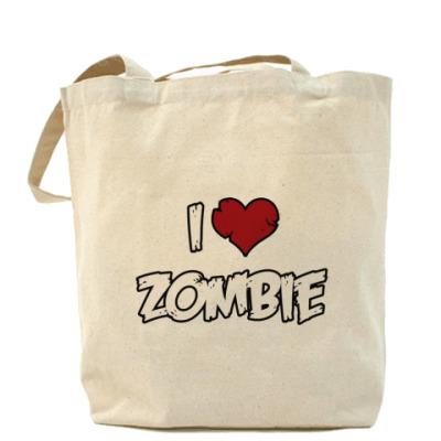 Сумка Я люблю зомби