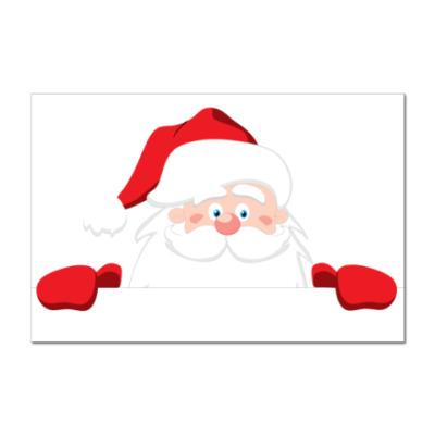 Наклейка (стикер) Санта