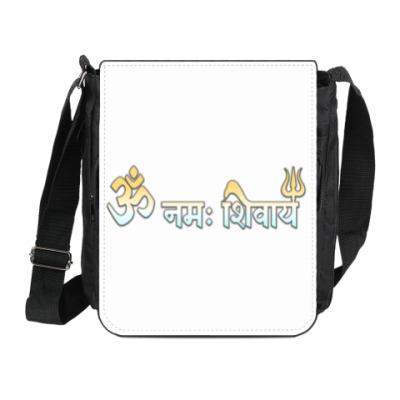 Сумка на плечо (мини-планшет) Мантра Шивы на санскрите