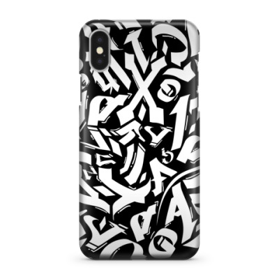 Чехол для iPhone X Граффити каллиграфия