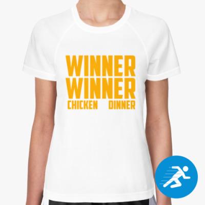 Женская спортивная футболка PlayerUnknown's Battlegrounds / PUBG (ПУБГ) [2]