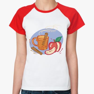 Женская футболка реглан Глинтвейн