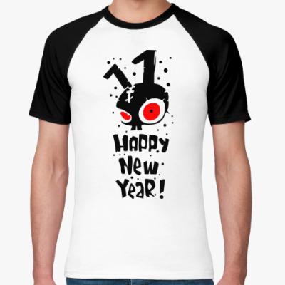 Футболка реглан Happy New Year