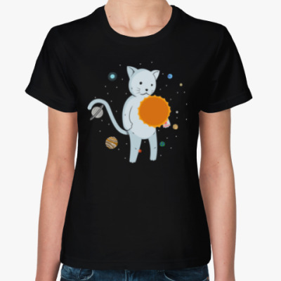 Женская футболка Космокот