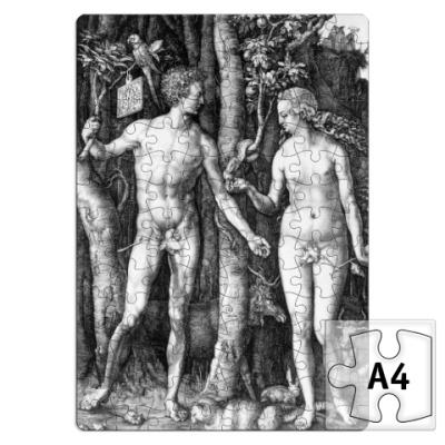 Пазл Адам и Ева Дюрера