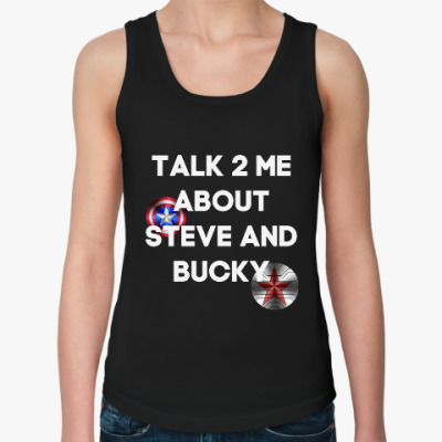 Женская майка Talk to me about Steve and Bucky