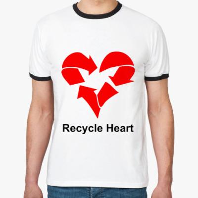 Футболка Ringer-T Recycle Heart