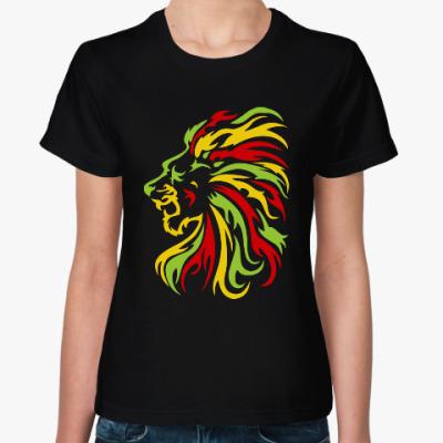 Женская футболка Красочный лев