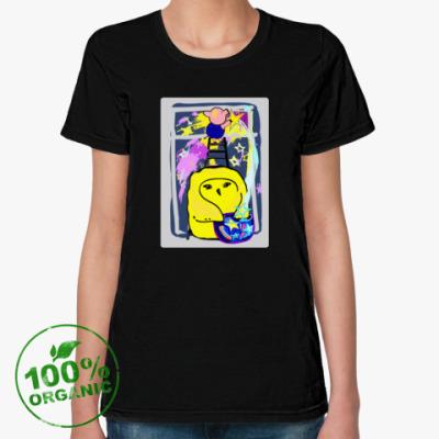 Женская футболка из органик-хлопка Дружба. Символ года.