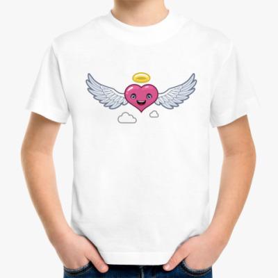 Детская футболка сердце-ангел