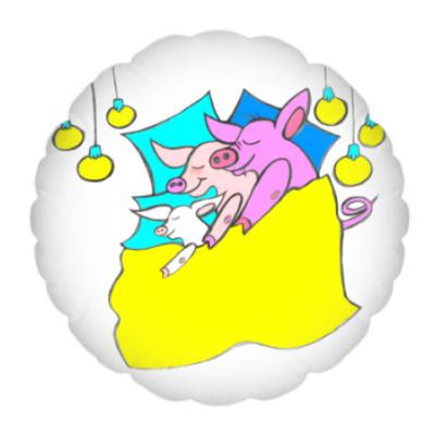 Подушка Свинни - семейный сон