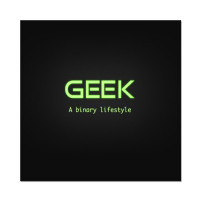 Наклейка (стикер)  Geek