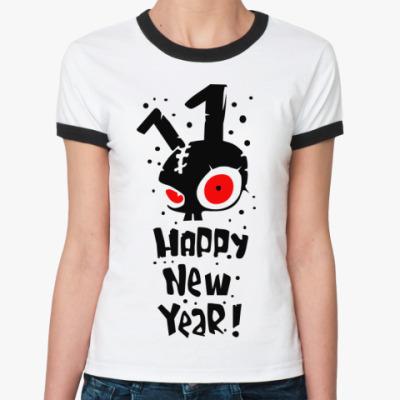 Женская футболка Ringer-T Happy New Year