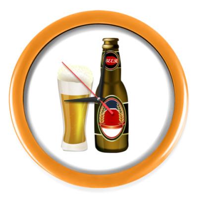 Настенные часы время пиво