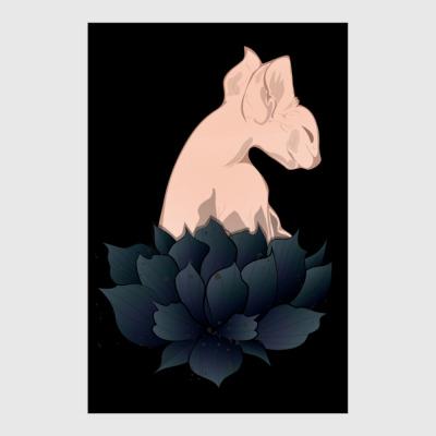 Постер Сфинкс в цветах