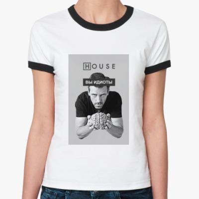 Женская футболка Ringer-T HOUSE