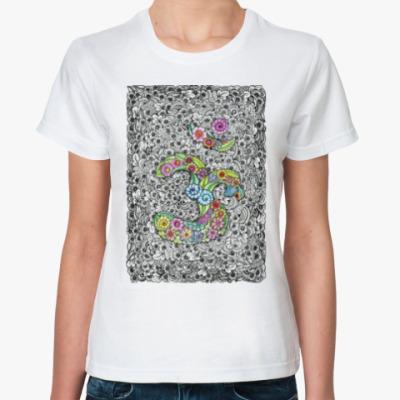 Классическая футболка Священный символ ОМ (АУМ)