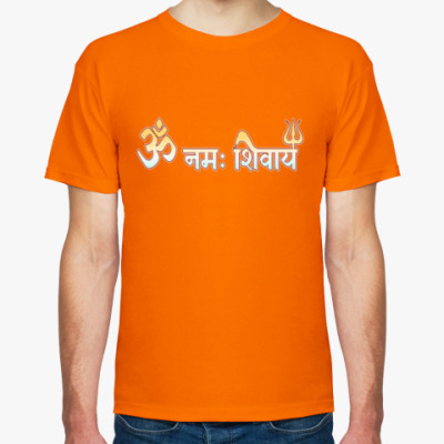 Футболка Om namah Shivaya (деванагари)