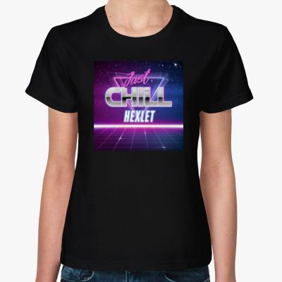 Женская футболка Женская футболка Sol's/Stedman, черная