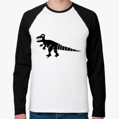 Футболка реглан с длинным рукавом Дракон Фред
