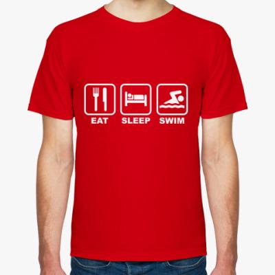 Футболка Eat Sleep Swim