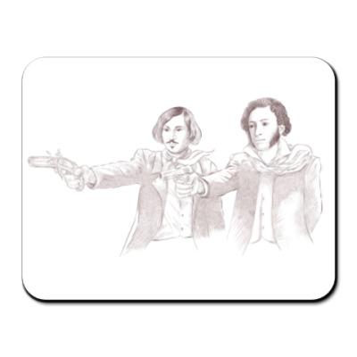 Коврик для мыши Гоголь и Пушкин