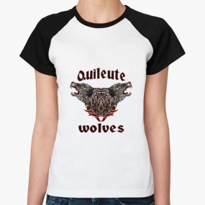 Женская футболка реглан Quileute wolves