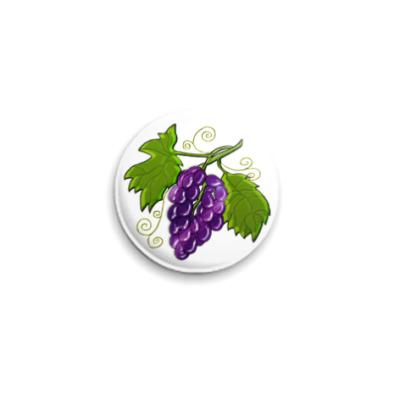 Значок 25мм  Black Grapes