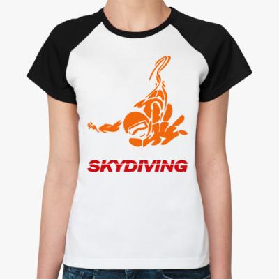 Женская футболка реглан SKYDIVING
