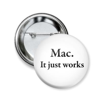 Значок 50мм Mac