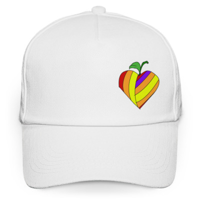 Кепка бейсболка Разноцветное сердце