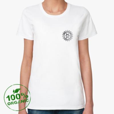 Женская футболка из органик-хлопка Шестеренка