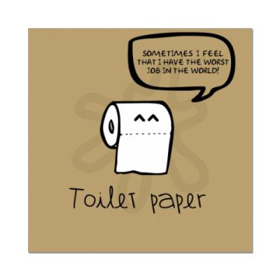 Наклейка (стикер) Toilet paper