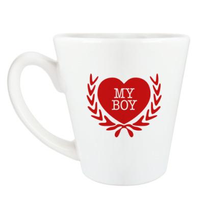 Чашка Латте i love my boy