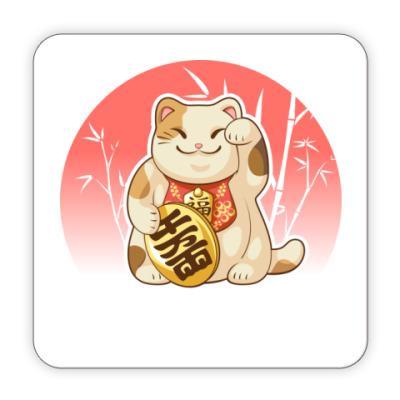 Костер (подставка под кружку) 'Кот счастья'