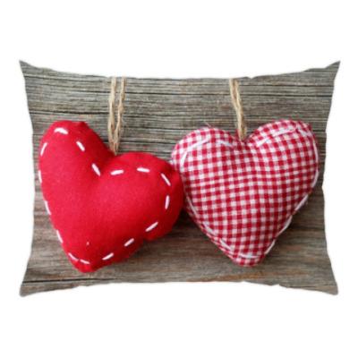 Подушка Оригинальные сердечки