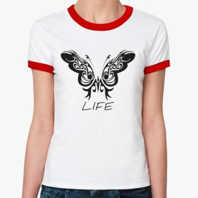 Женская футболка Ringer-T Life