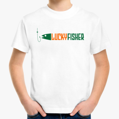 Детская футболка lucky fisher