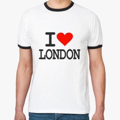 Футболка Ringer-T I love London