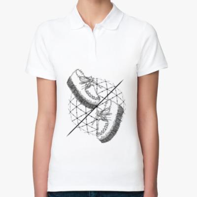 Женская рубашка поло Слова и фразы - твои шаги!