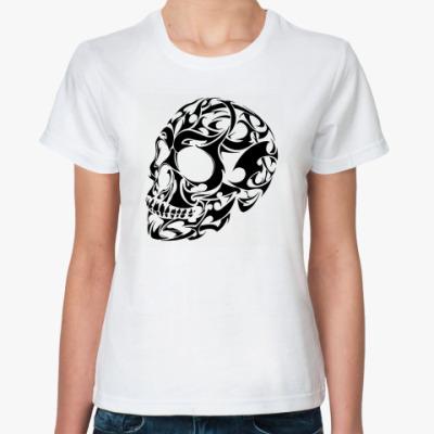 Классическая футболка  футболка Череп