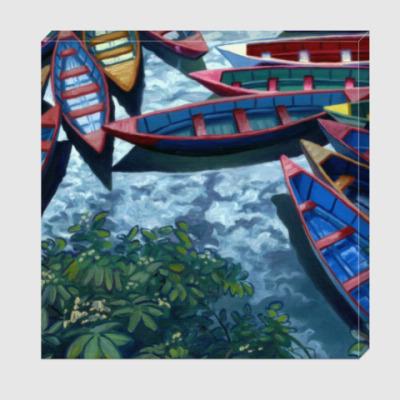 Холст 19 лодок (фрагмент)
