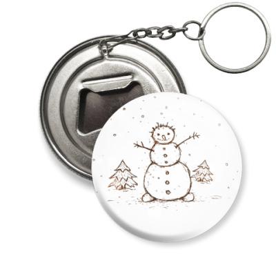 Брелок-открывашка  Снеговик