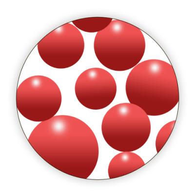 Костер (подставка под кружку) Красный мяч