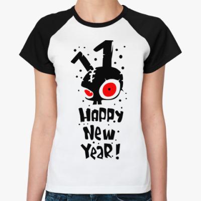 Женская футболка реглан Happy New Year
