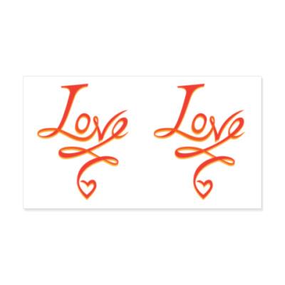 Виниловые наклейки LOVE