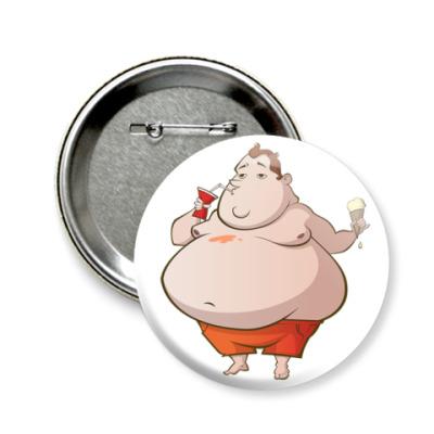 Значок 58мм Fat boy