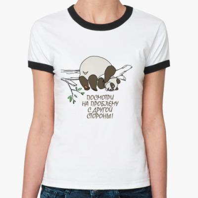 Женская футболка Ringer-T Посмотри на проблему