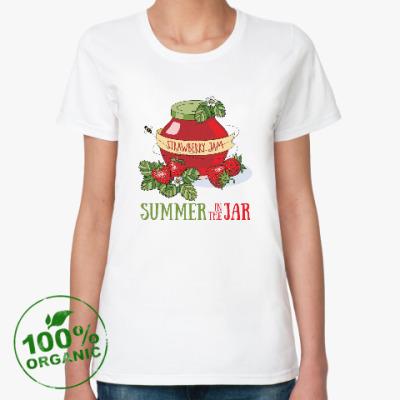 Женская футболка из органик-хлопка Лето в банке