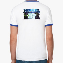 Футболка Ringer-T мужская, бел/синий
